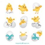 húsvéti kép kiscsibékkel