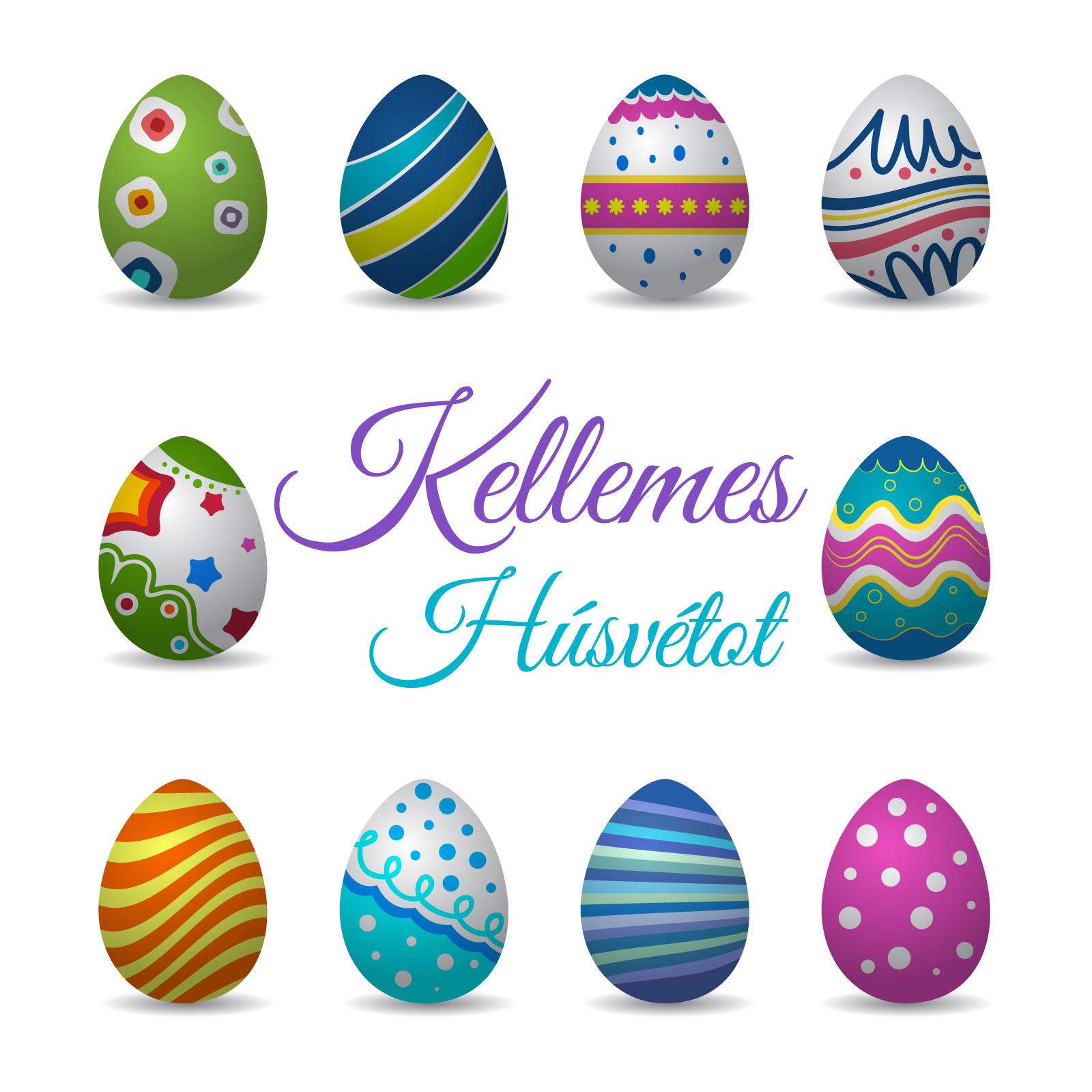 húsvéti képeslap üdvözlő szöveeggel