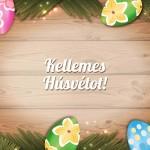 húsvéti képeslap tojásokkal