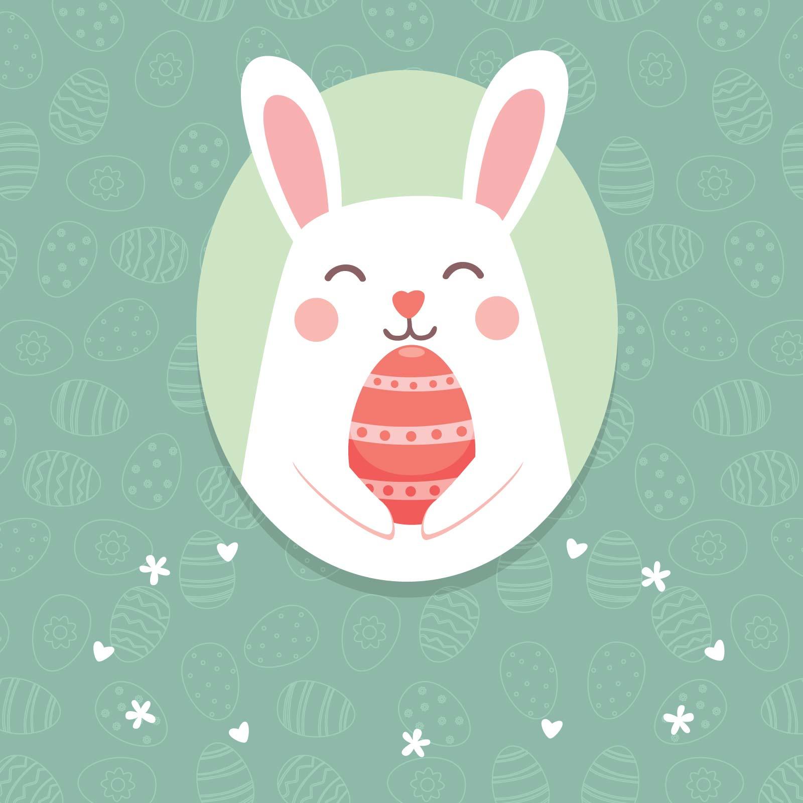 húsvéti nyuszis képeslap