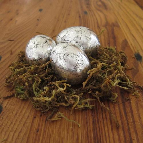 húsvéti tojás, tojásfestés - antik ezüst tojás