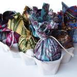 húsvéti tojás, tojásfestés - batikolt tojás nyakkendőből