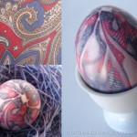 húsvéti tojás, tojásfestés - batikolt tojás nyakkendőből 5