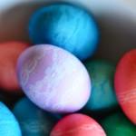 húsvéti tojás, tojásfestés - csipke tojásdekoráció