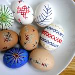 húsvéti tojás, tojásfestés - hímzett tojások