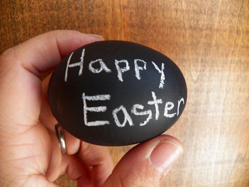 húsvéti tojás, tojásfestés - tábla utánzat és feliratok