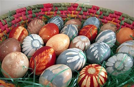 húsvéti tojás, tojásfestés - virágos tojások