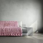 kötött takaró, kötött ágytakaró, kötött ruha óriás fonalból - ágytakarók