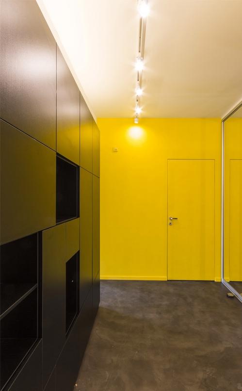 kis családi lakás moduláris bútorok - előszoba