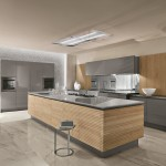 Modern konyhabútor szürke pulttal