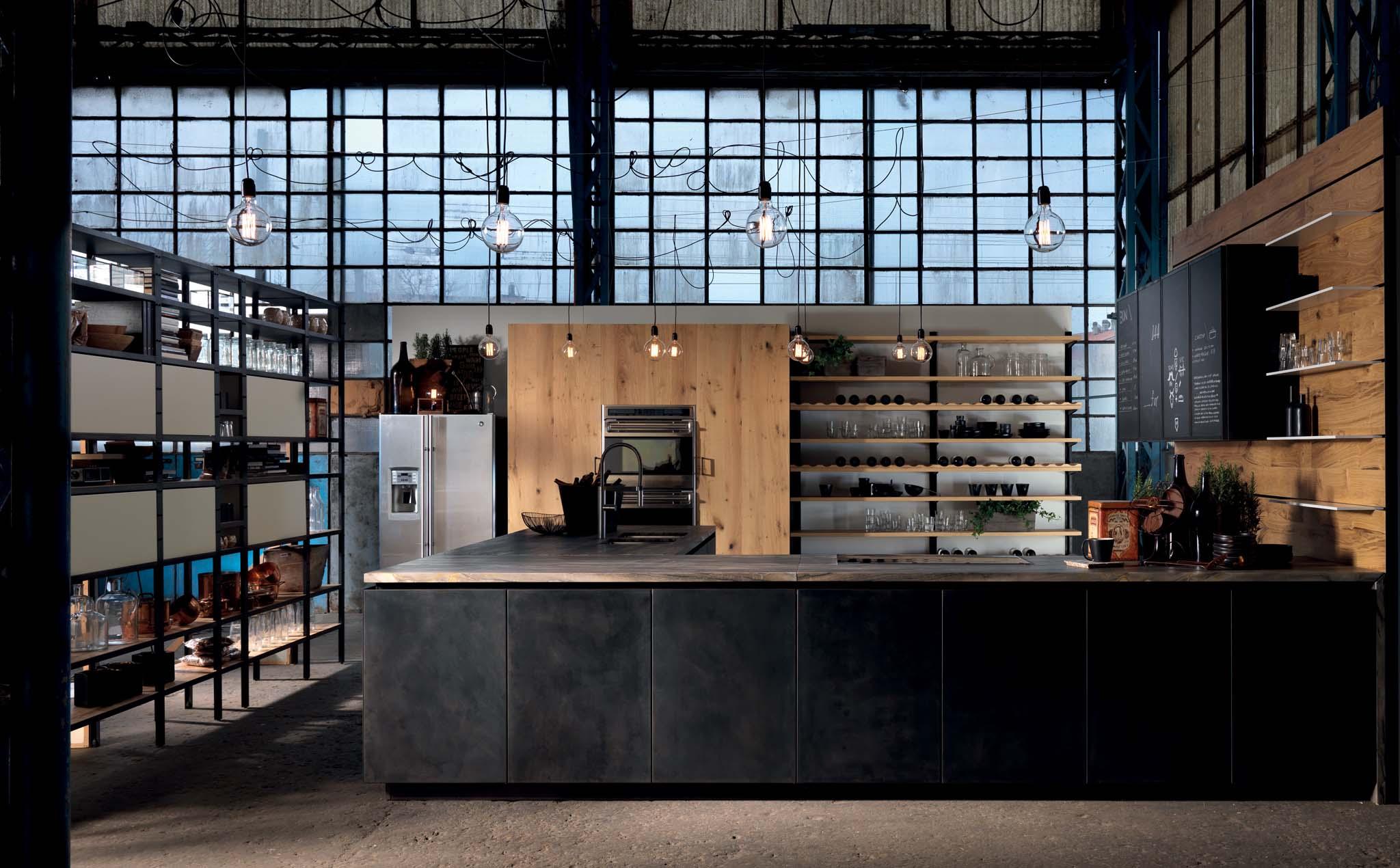 design konyhabútor loft lakásba