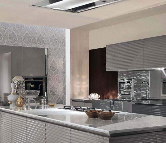 Modern konyhabútor - ezüst