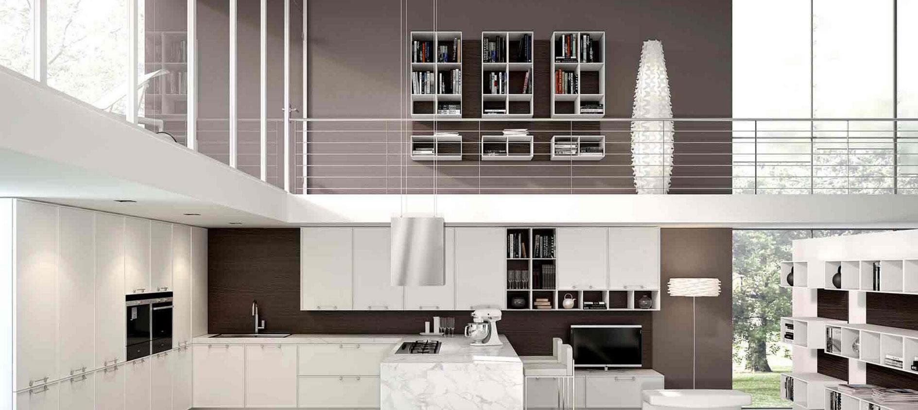 Fehér minimalista letisztult konyhabútor