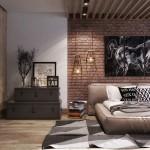 loft hálószoba fal inspiráció és ötlet - vöröstégla