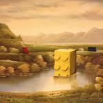 modern festmény, festmények, fali kép - lego