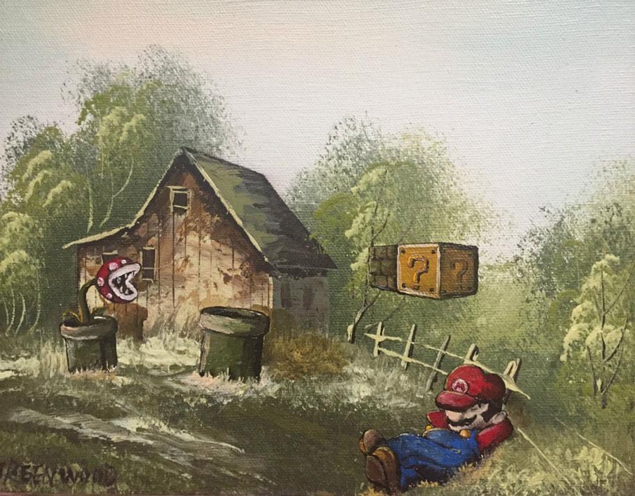 modern festmény, festmények, fali kép - mario