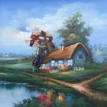 modern festmény, festmények, fali kép - transformers