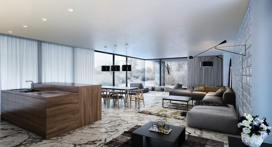 modern nappali és letisztult nappali bútorok lakberendezés