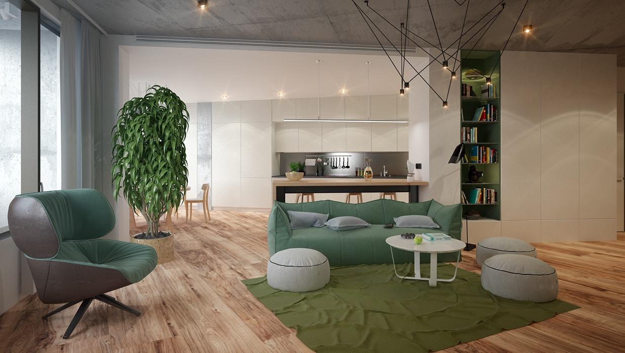 modern nappali és nappali bútor lakberendezés