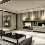 modern nappali és nappali bútorok - barna