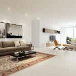 modern nappali és nappali bútorok letisztult és egyszerű, minimalista stílusban - dupla nappali