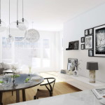 modern nappali és nappali bútorok letisztult és egyszerű, minimalista stílusban - fehér nappali