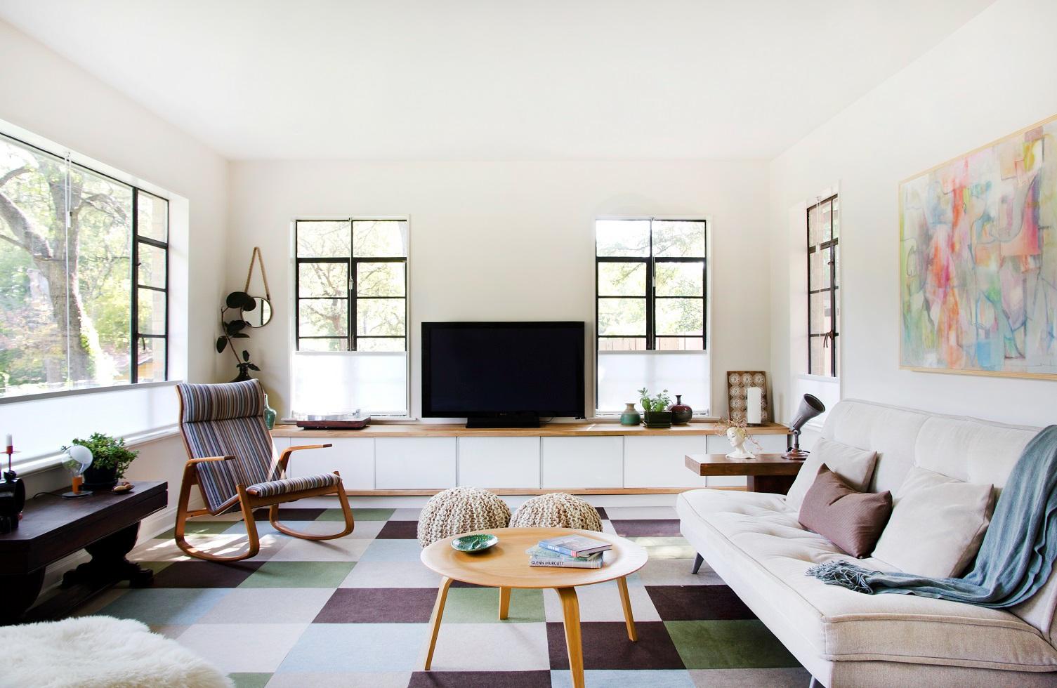 modern nappali és nappali bútorok letisztult - francia lakás