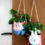 pet palack és pet kupak újrahasznosítás - állatos műanyag palackból készült virágcserép