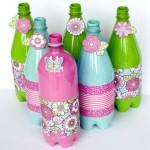 pet palack és pet kupak újrahasznosítás - díszes üveg dekoráció