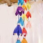 pet palack és pet kupak újrahasznosítás - függő dísz dekoráció