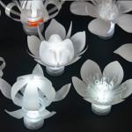 pet palack és pet kupak újrahasznosítás - led virág lámpa