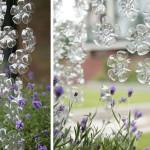 pet palack és pet kupak újrahasznosítás - műanyag virág függöny