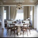 rusztikus provence stílusú lakás étkező