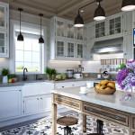 rusztikus provence stílusú lakás konyha
