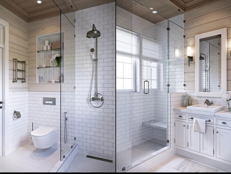 rusztikus provence stílusú lakás konyha fürdőszoba mosdó wc