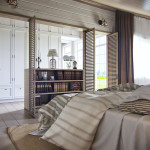 rusztikus provence stílusú lakás konyha hálószoba