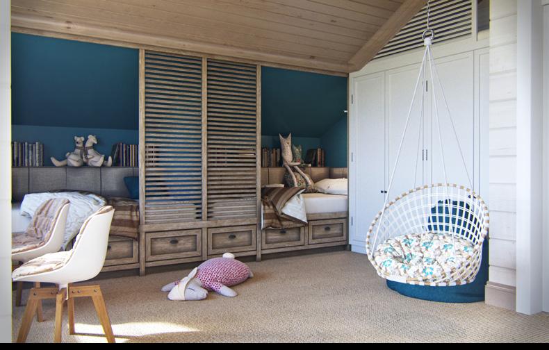 rusztikus provence stílus - lakás konyha tetőtéri gyerekszoba