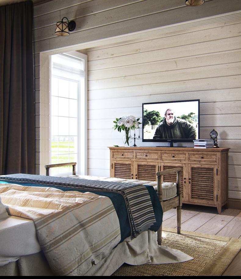 rusztikus provence stílusú lakás konyha tetőtéri vendégszoba