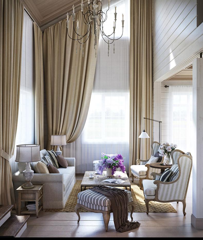 rusztikus provence stílusú lakás