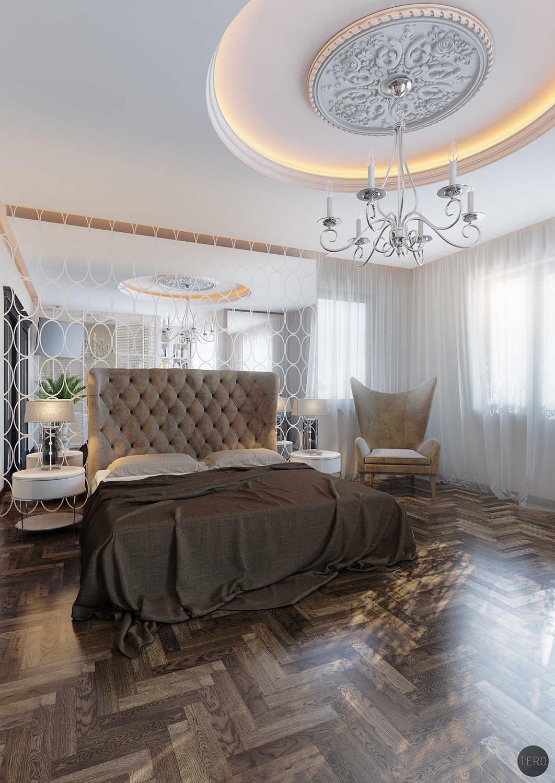 tükrös hálószoba fal