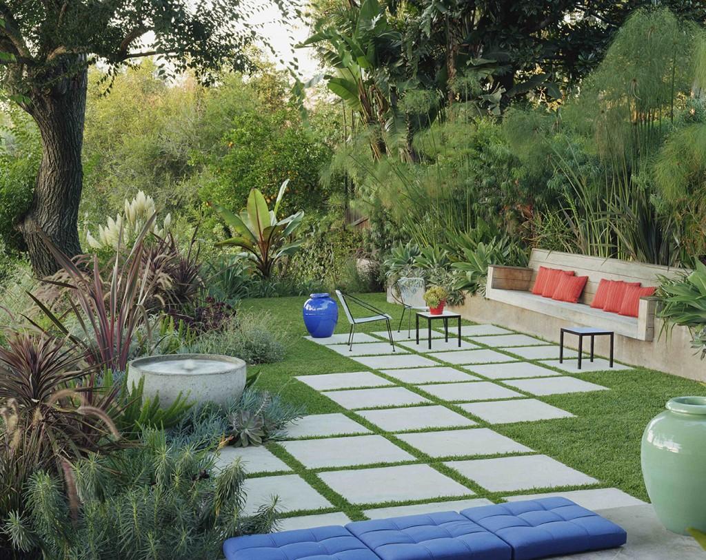 egyszerű kert mini oázis - kertépítés