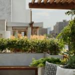 kertépítés tetőkert és tető oázis - modern kert