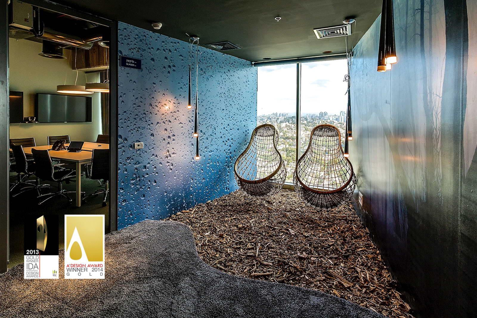 modern iroda pihenés az irodában hintaszékben