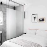 Kis fehér lakás hálószoba