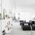Kis fehér lakás nappali