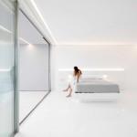 Minimalista fehér villa hálószoba