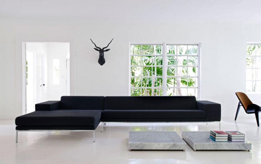 Modern és klasszikus fehérben nappali