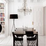 Modern és klasszikus fehérben étkező