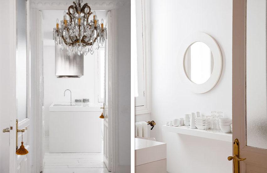Modern és klasszikus fehérben fürdőszoba