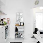 Skandináv fehér lakás konyhabútor